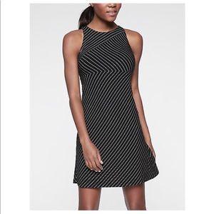 Athleta Santorini High Neck Mix Stripe Dress NWT!